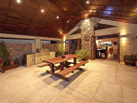 Outside Brick Wall Designs by Outdoor Living Design With Bbq Area From A Real Australian
