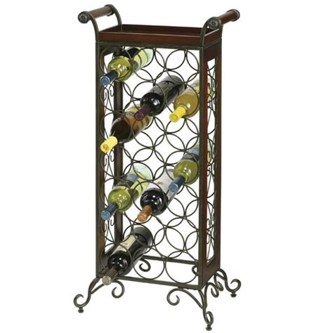 clockway howard miller wine butler wrought iron and wood