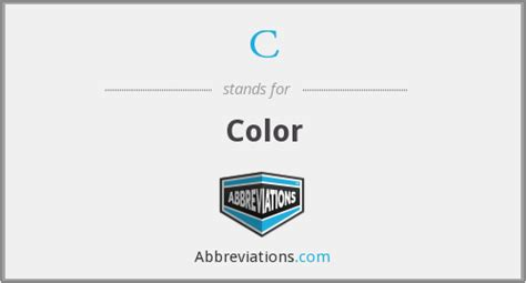 abbreviation for color what is the abbreviation for color