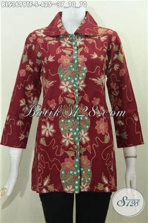 desain baju batik online toko pakaian batik online jual blus batik merah desain