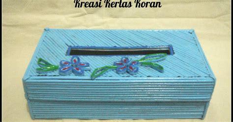 Lu Hias Anyaman demo template 12 kerajinan tangan tempat tissue kreasi