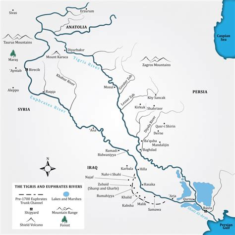 world map rivers tigris the tigris and euphrates rivers georgetown