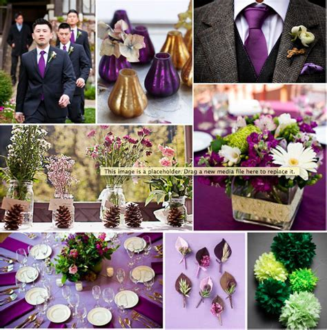 Plum, Gold and Green Wedding Inspiration Board