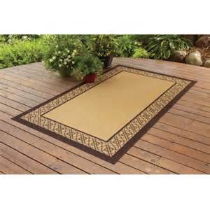 Outdoor Bamboo Rugs For Patios Better Homes And Gardens Indoor Outdoor Bamboo Border Polyester Area Rug Straw Walmart