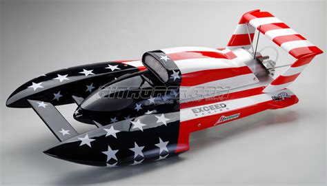 rc gas boat pics exceed racing gs260 fiberglass stars stripes 26cc gas