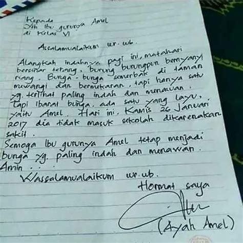 Contoh Surat Izin Buat Kesekolahan Tulis Tangan by Contoh Surat Izin Sekolah Orang Tua Tidak Masuk Sekolah