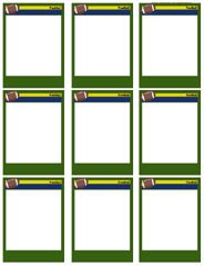football card template football card templates free blank printable customize