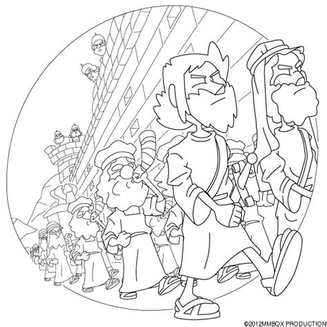 coloring pages for joshua and the battle of jericho battle of jericho coloring page coloring home