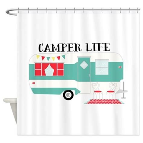 rv shower curtains cer life shower curtain by hopscotch21