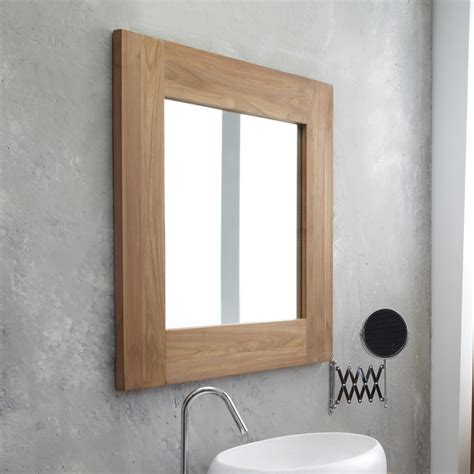Square Bathroom Mirror Teak Mirror Low Priced Square Mirrors Sale At Tikamoon