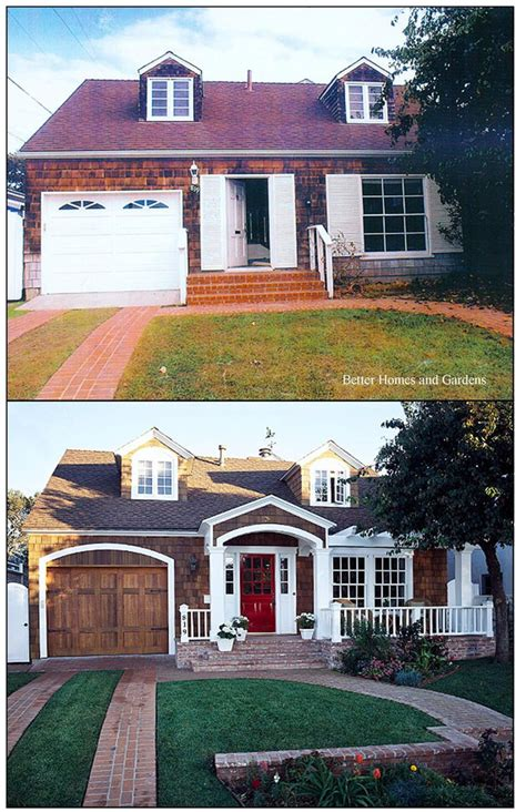 before and after home before and after home exteriors gardens red front