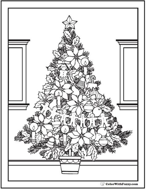 christmas tree coloring page for adults 78 best images about christmas coloring on pinterest