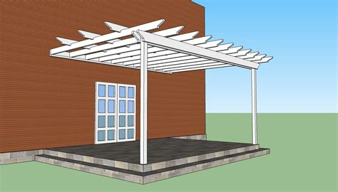 Ideas Design For Attached Pergola Attached Pergola Plans Howtospecialist How To Build Step By Step Diy Plans