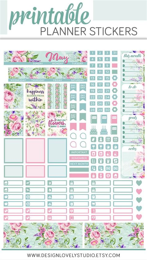 Monthly Planner Sticker may mini happy planner stickers may monthly kit mini
