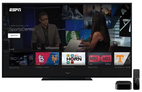 espn live mobile espn updates apple tv app with new interface live