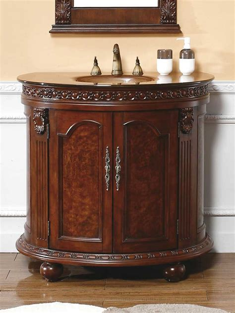 round bathroom vanity 36 quot cerceda half round bath vanity bathgems com