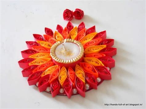 quilling diya tutorial quilled candle frame for diwali celebrations gorgeous