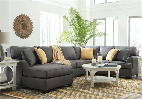 3pc sectional brioni nuvella gray 3pc raf sofa sectional lexington