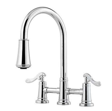 2 handle pull kitchen faucet polished chrome ashfield 2 handle pull kitchen