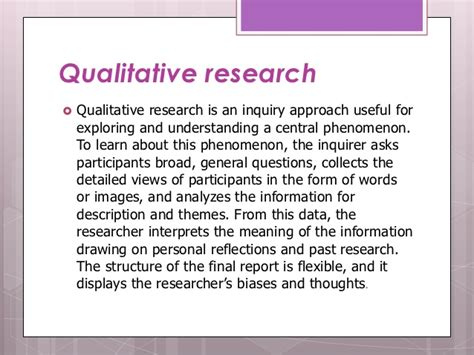 central themes in qualitative research introduction to educational research