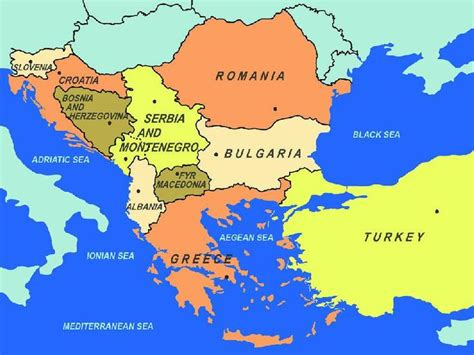 eastern euope map map of southeastern europe including area to the east of