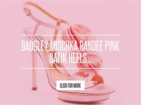 Badgley Mischka Randee Pink Satin Heels by Badgley Mischka Randee Pink Satin Heels Fashion