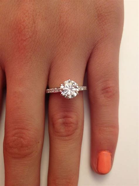 2 02 ct cut solitaire engagement ring 14k