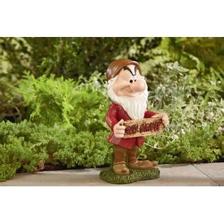 disney grumpy statue with welcome sign outdoor living outdoor decor lawn ornaments statues