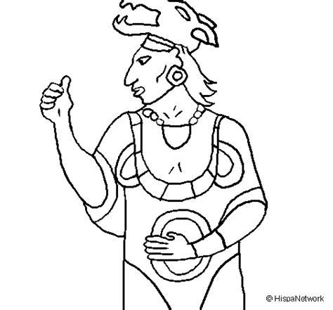 imagenes mayas para colorear dibujo de dios ah puch para colorear dibujos net