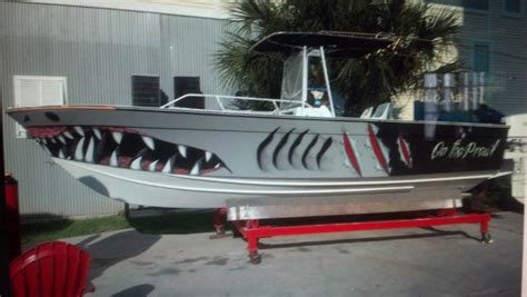 graphics on boat shark mouth decal for boat