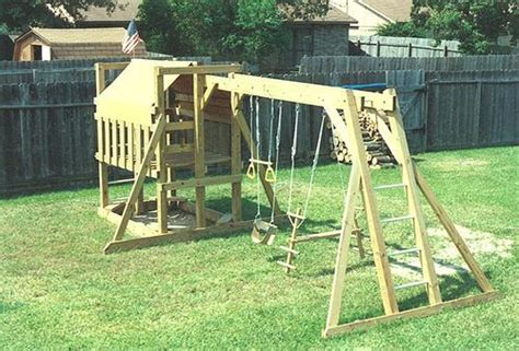 cedar swing set plans the wooden playground playfort swing set playset quot plans