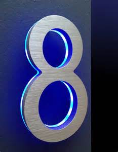 Solar Light House Numbers - led house numbers signage apartment number signs modern house numbers by surrounding