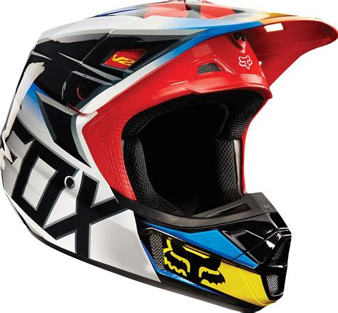 motocross racing 2 190 68 fox racing v2 race mx helmet 199172