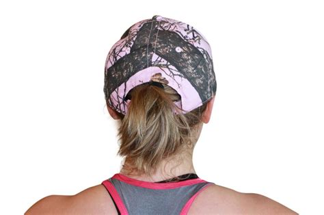 womens camo hats with pink mossy oak pink cap womens velcro ponytail hat camo
