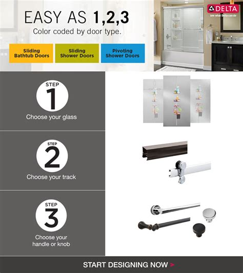 Delta Shower Door Parts Delta 48 In To 60 In Sliding Shower Door Track Assembly Kit In Nickel Sdlsd60 Nik R The Home