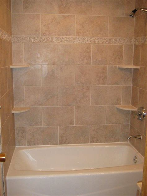bathtub surround tile patterns bathtub walls or do we rip out the tub and shelving unit