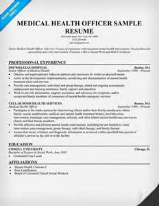 Health Officer Sle Resume by Resume Resume Exles And Health On