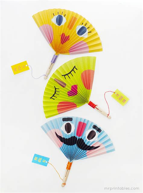 Paper Fan Craft For - summer paper fans mr printables