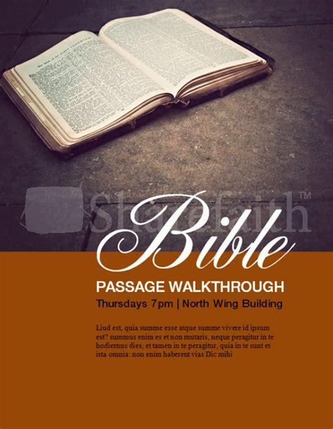 Bible Walkthrough Flyer Template Bible Study Flyer Template