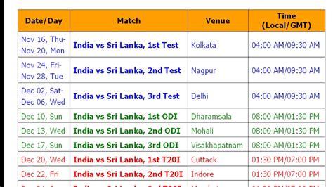 2017 series of table india sri lanka november series 2017 schedule table