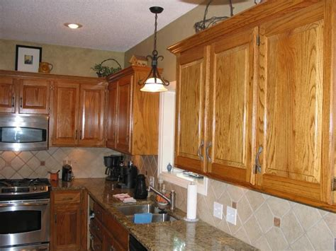 Oak cabinets photos