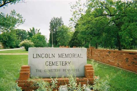 lincoln park cemetery find a grave lincoln memorial park