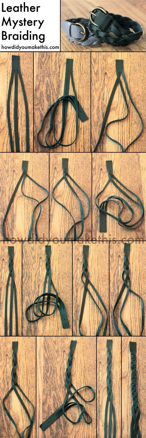 leather mystery braid double wrap bracelet      luxe diy