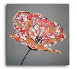 tableau peinture fleur contemporain 11