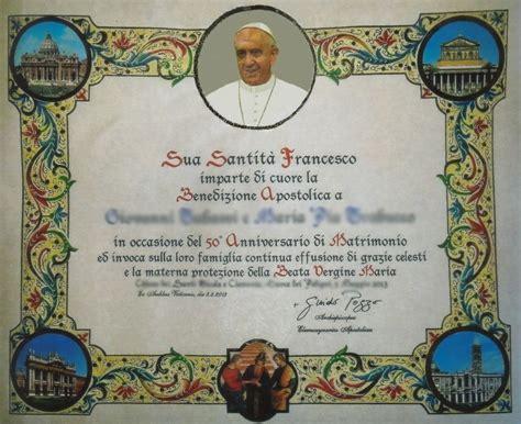 elemosineria apostolica ufficio pergamene benedizione papa agli sposi come ottenere la pergamena