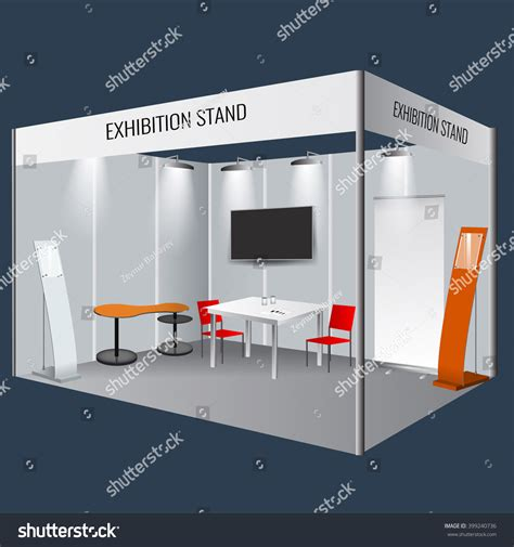 exhibition stand design template illustrated unique creative exhibition stand display stock