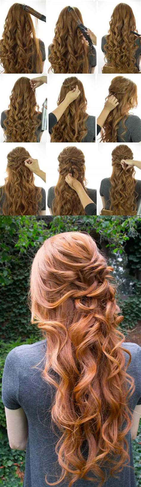 Easy Half Up Half Hairstyles by 25 Easy Half Up Half Hairstyle Tutorials For Prom