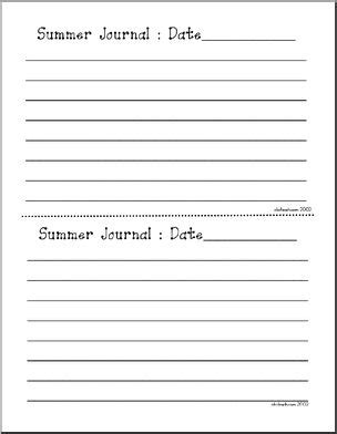summer journal elementary writing paper i abcteach com
