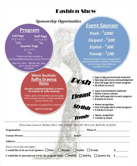 Fashion Show Template Sle Event Program Template 38 Free Documents In Pdf