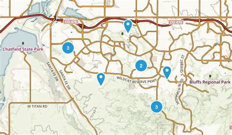 highlands ranch colorado map best trails near highlands ranch colorado alltrails